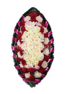 Венок ритуальный на похороны серия «заказной» №34