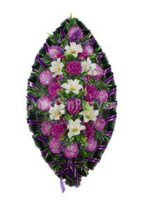 Венок ритуальный на похороны серия «простой» №7